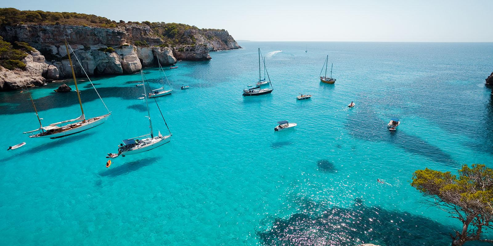 Sailing Between Ibiza And Formentera On Board Of A Splendid 18m