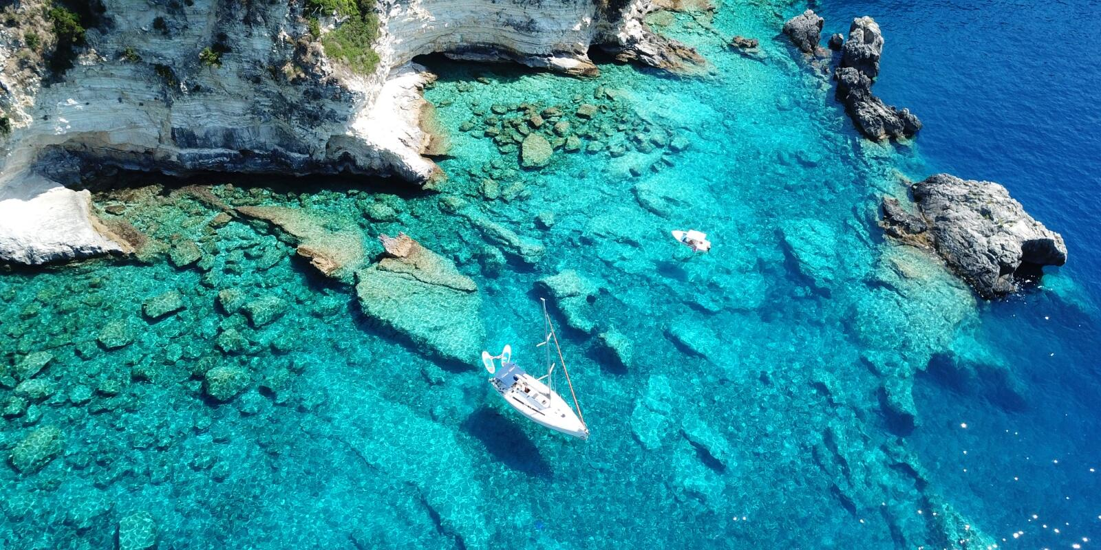 South of Lefkas between pristine nature bays of Meganisi and myths of Ithaca