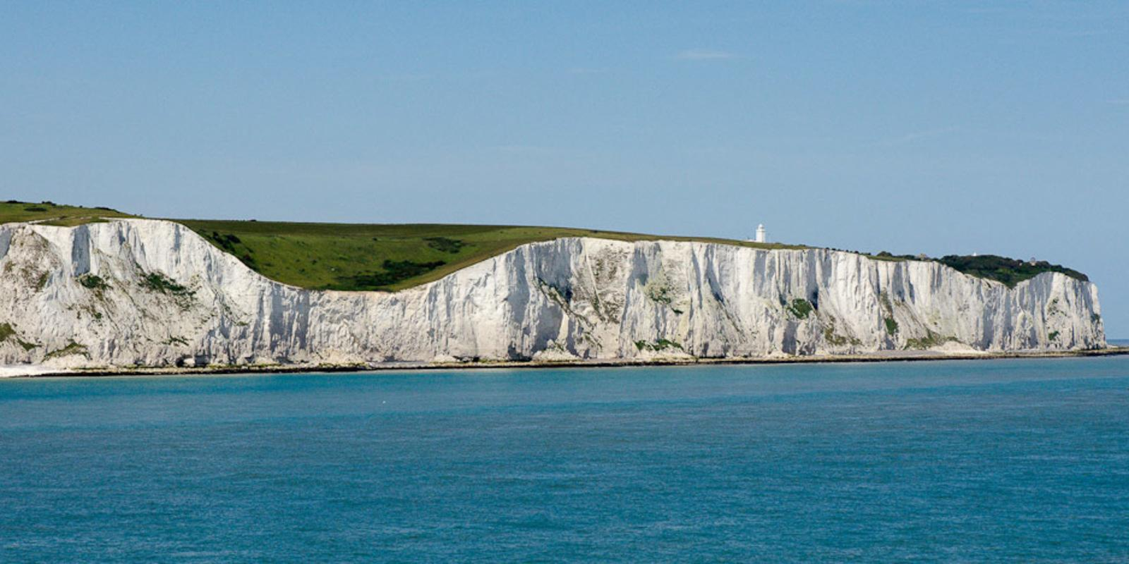 Experience a cross-Channel cruise and discover the white cliffs of the English coasts.