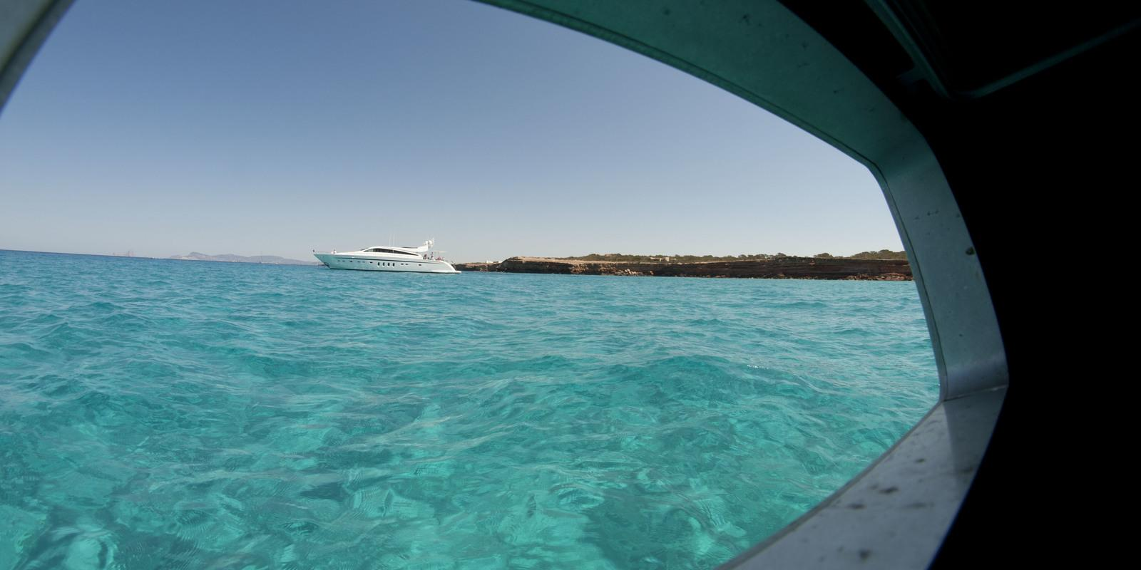 At Ibiza and Formentera on a beautiful 65 feet!
