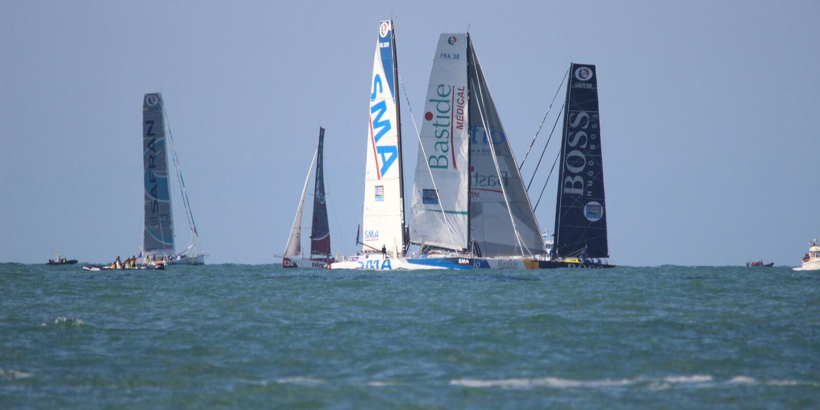 Departure of Jacques Vabre with sailing practice.