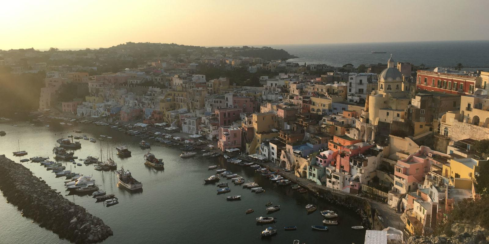 End of summer flotilla in Capri, Procida and Ischia