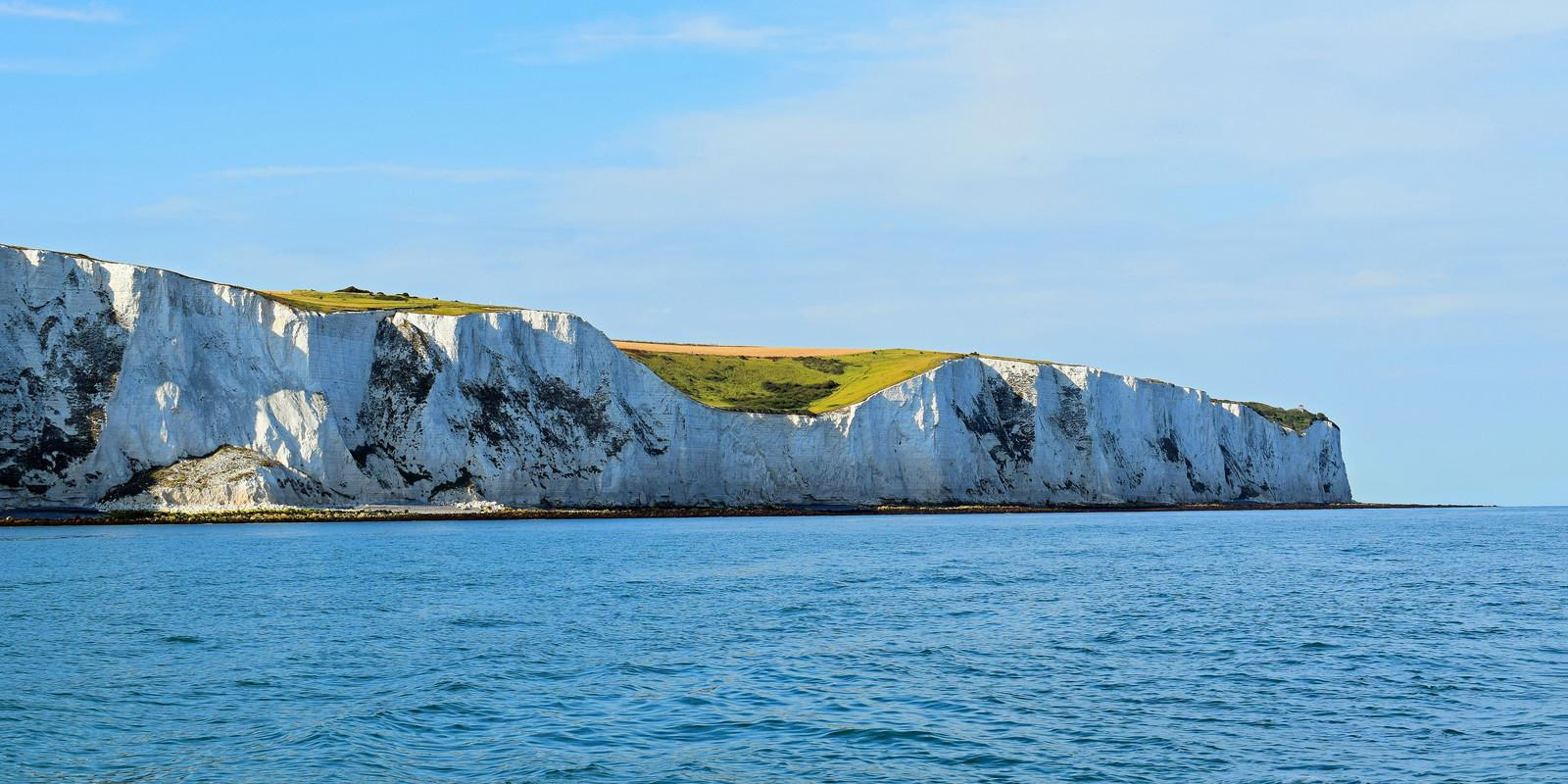 Experience your first crossing of the Channel and admire the white cliffs of the British coast