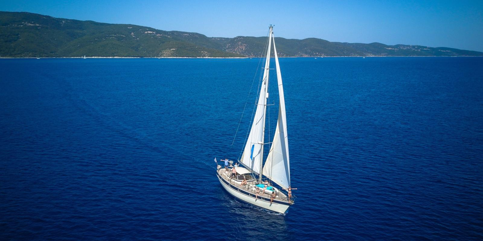 Enjoy the best of the Cyclades in the comfort of a Hallberg-Rassy 49