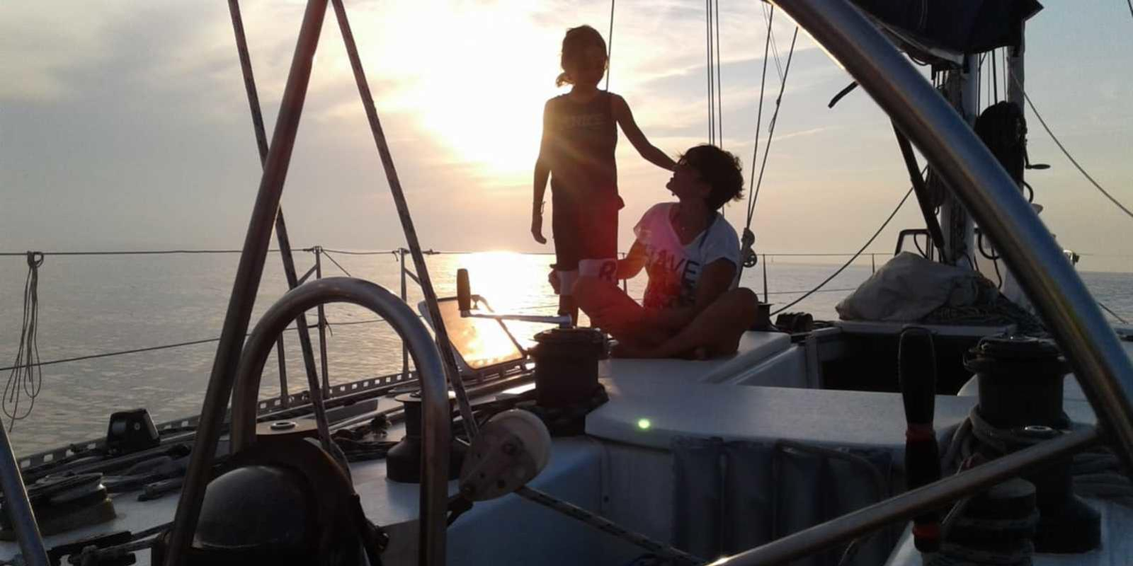 Sailing in the great history along the coasts of Epirus. Hostess on board.