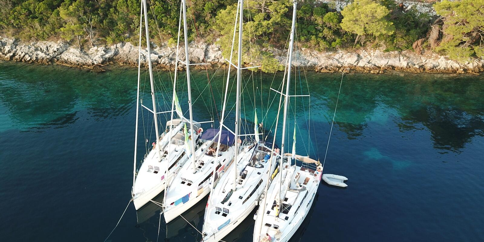CrazySail flotilla of 9 boats in Croatia - ORIGINAL Route