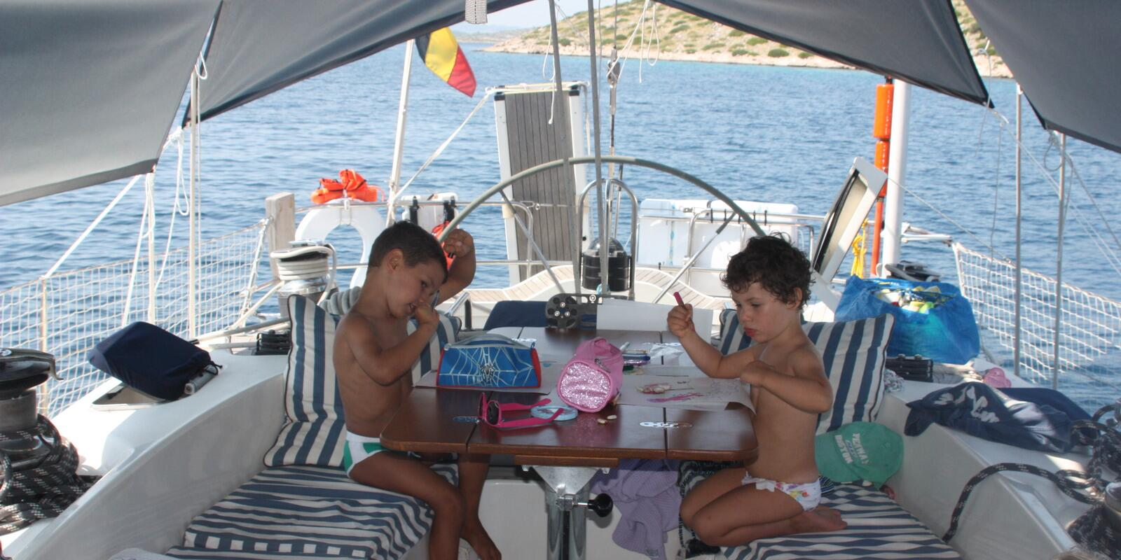 Little pirates at the boarding !! Croatia: children pay half