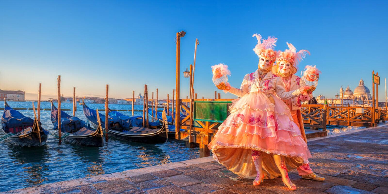 Venice - Carnival on a sailing boat