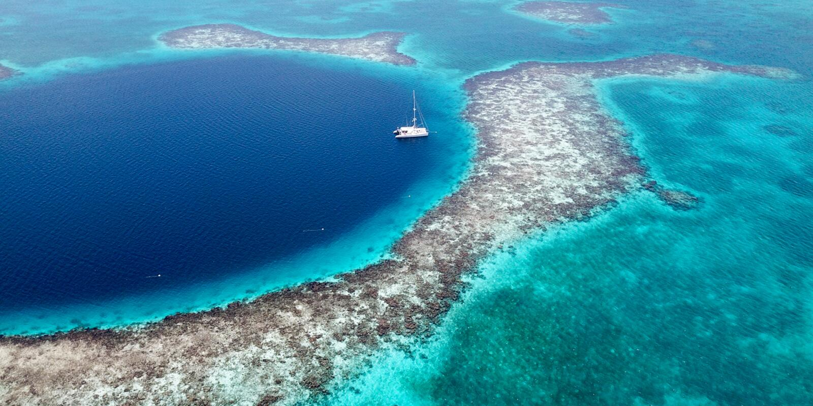 The Coral Reef of Belize in Catamaran - All Inclusive, optional diving only