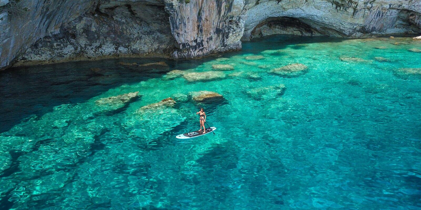 From Kefalonia  - Optional hiking, history, caves, scuba diving