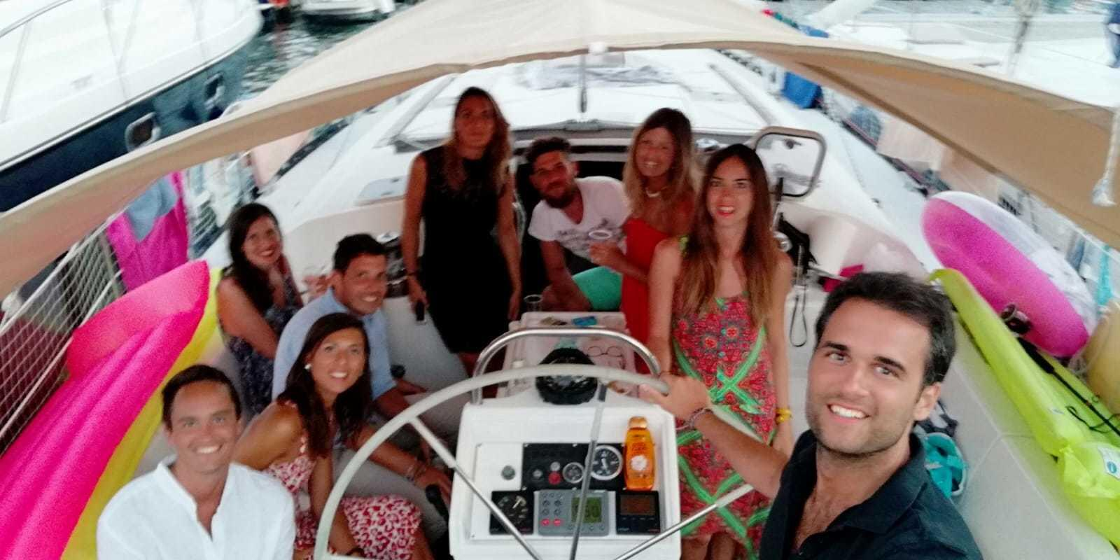 Egadi on a sailboat with chef on board