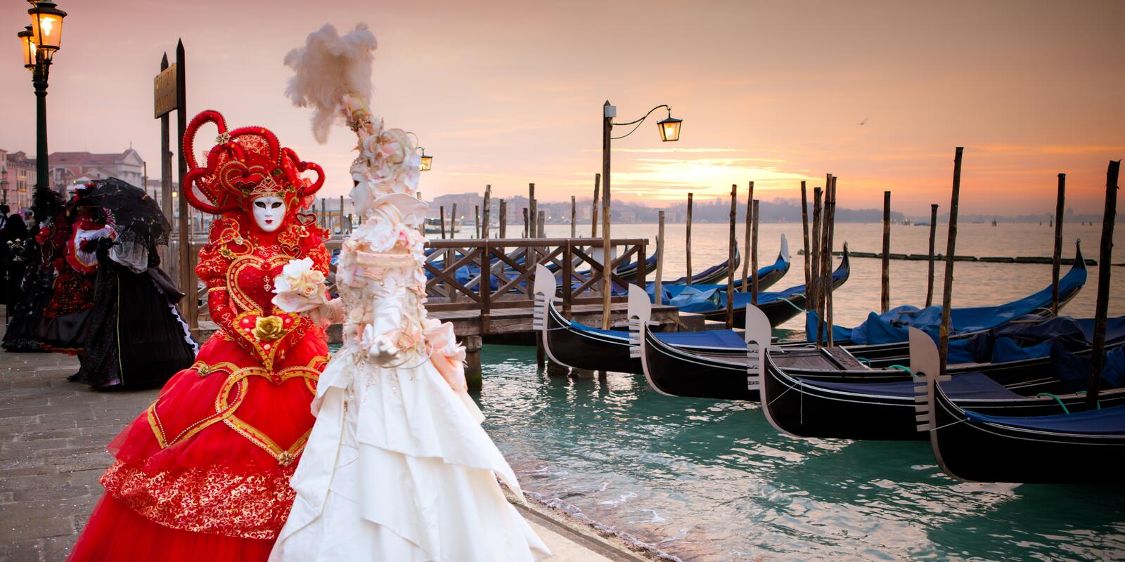 Venice. Carnival on a sailing boat