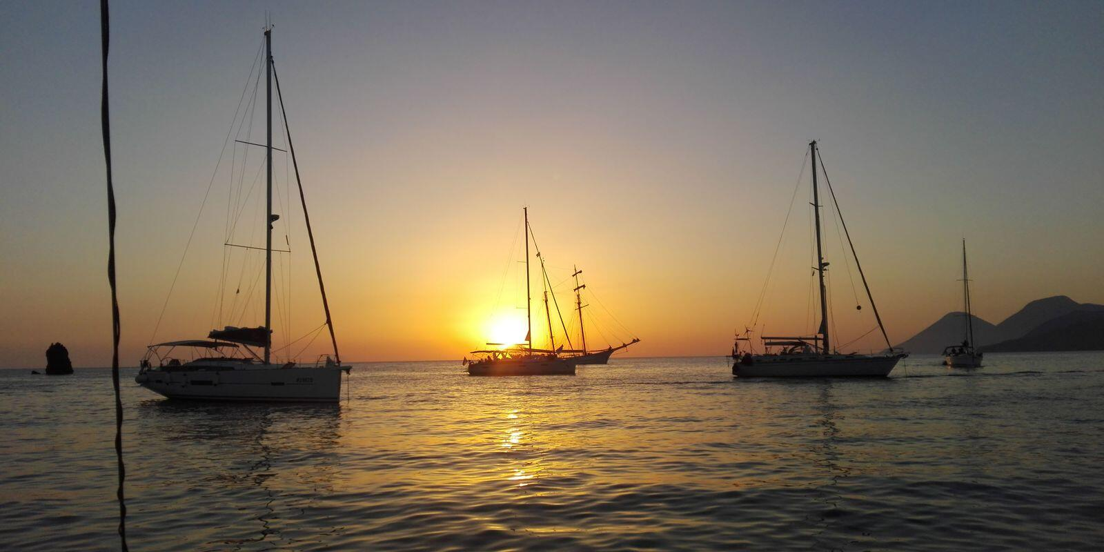 June in the Aeolian islands - the most beautiful time to sail between the islands!