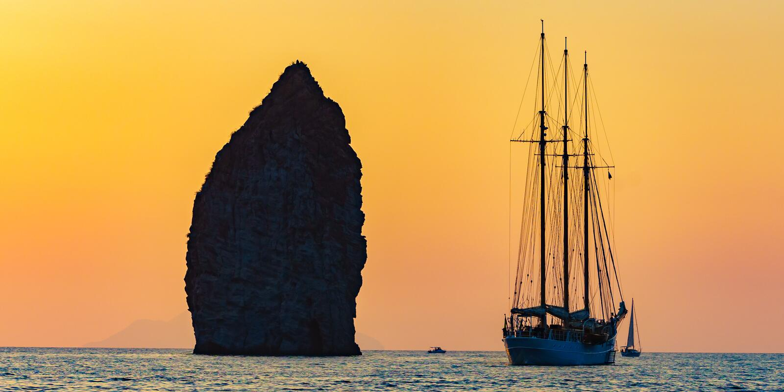 Aeolian islands on a gulet with crew on board!