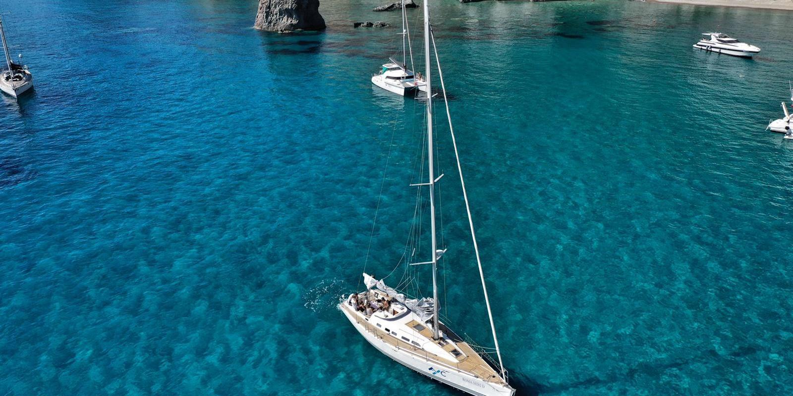 Cruise on a sailboat to Ponza Ventotene and Ischia!
