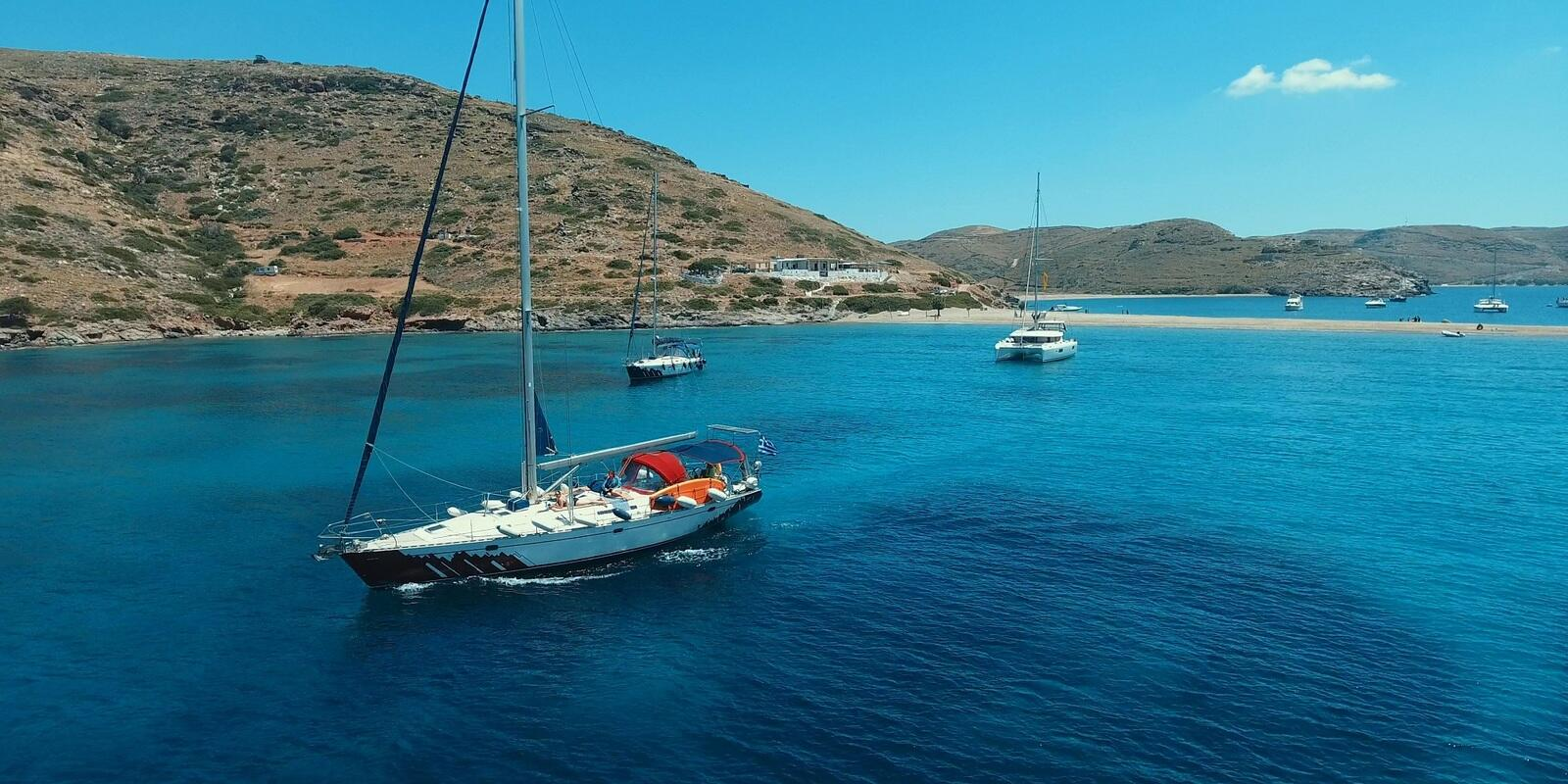 Premium one way sailing trip - taste BOTH the Saronic AND Cyclades islands. From Paros to Athens