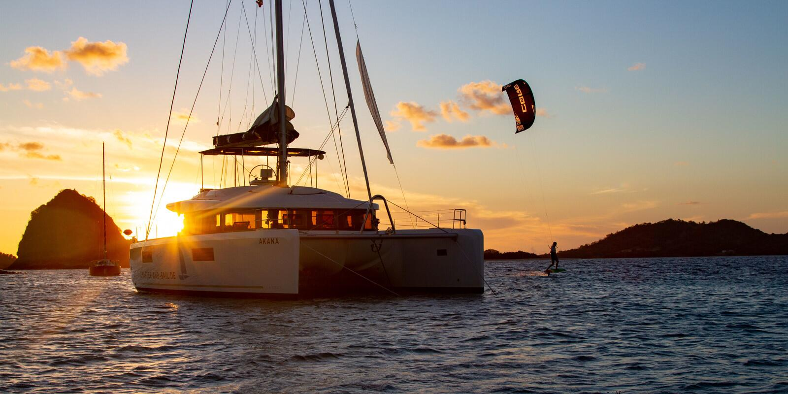 Kite & Sail Caribbean - from spot to spot with the luxurious catamaran