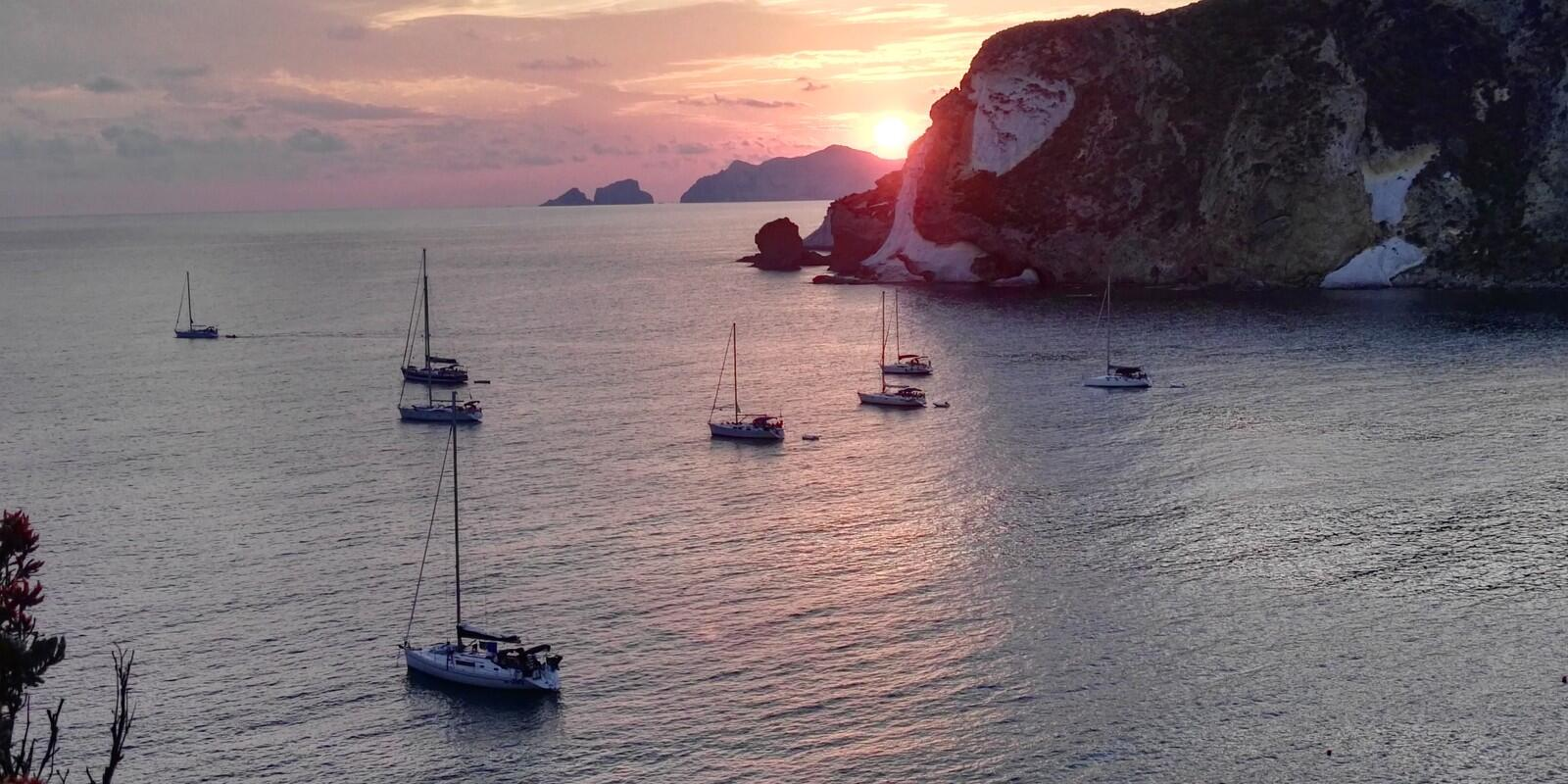 July the heart of summer Ponza and Palmarola