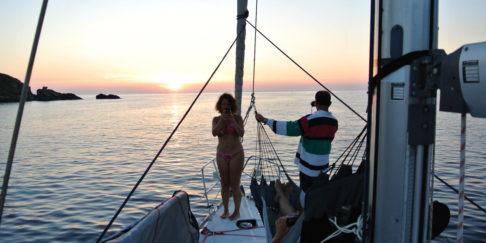 Five days on a sailboat, Tuscan islands and Corsica.