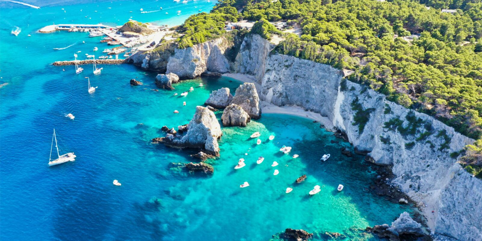 Three days at the Tremiti in the blue sea of August