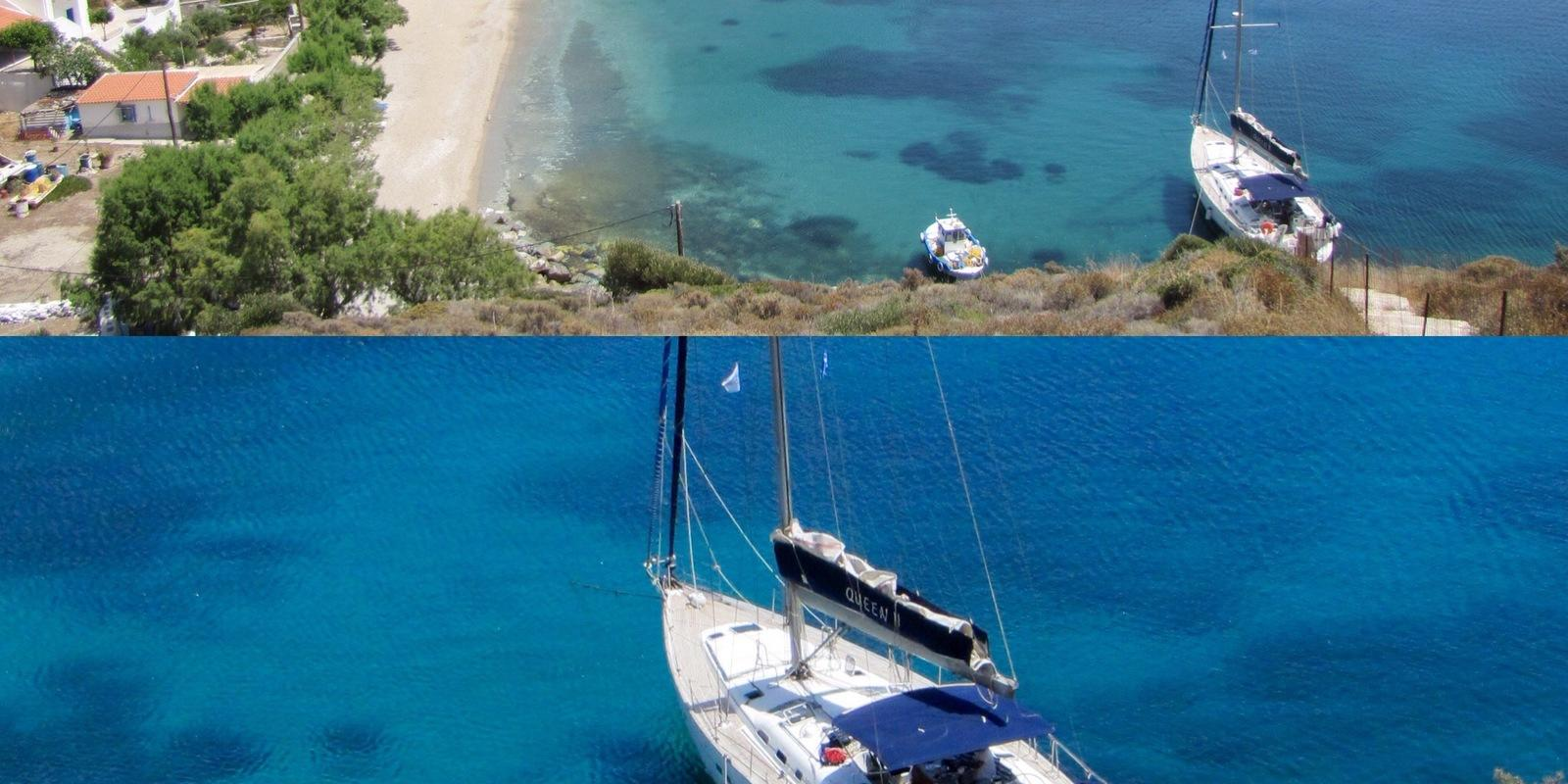 CHARTER ON THE CYCLADES FROM  KOS:with skipper and hostesschef on a luxury sailboat