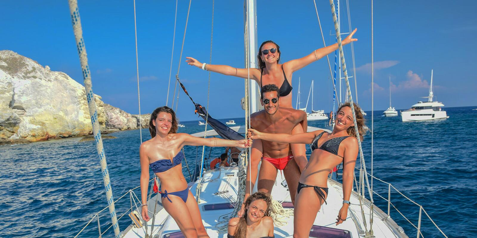 Flotilla holidays in the Aeolian Islands
